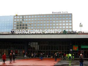 Estación de tren y AVE de Sants en Barcelona