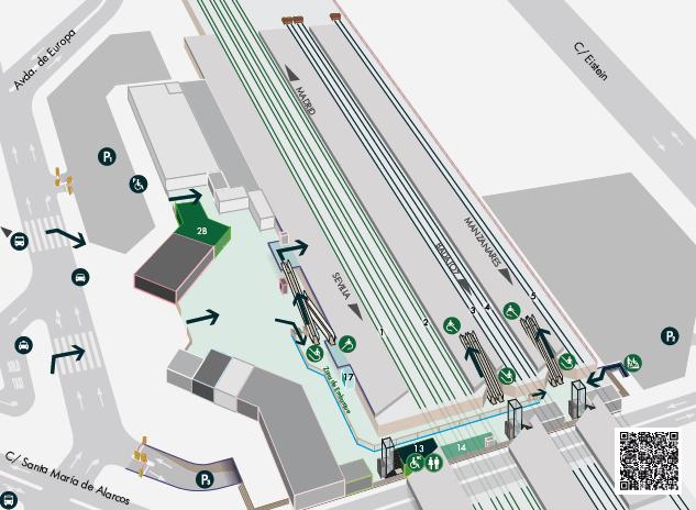 Estación de tren Ciudad Real - Central. Como llegar, teléfonos y servicios 3