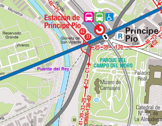 Estación autobuses en Madrid Príncipe Pío 7