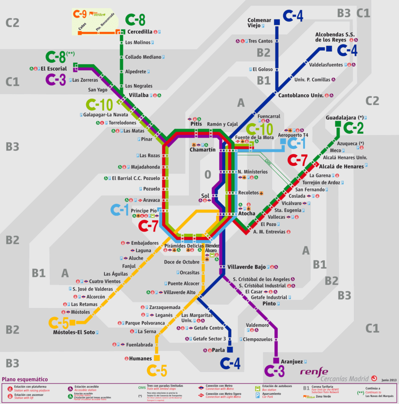 Líneas de cercanías desde y hasta Atocha
