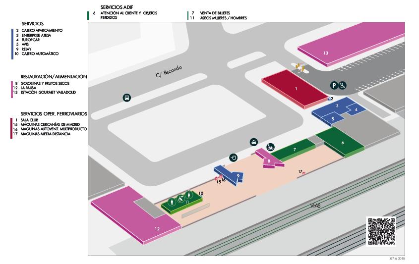 Estación de tren Valladolid Campo Grande. Como llegar, teléfonos y servicios 10