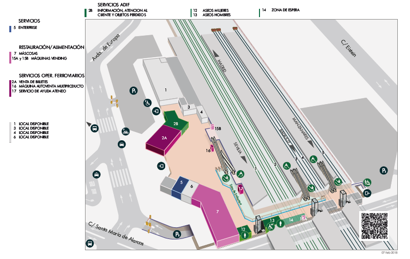 Estación de tren Ciudad Real - Central. Como llegar, teléfonos y servicios 5