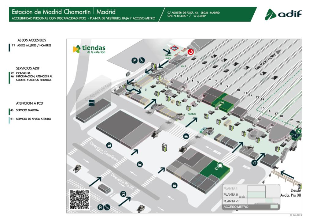 Estación de tren Madrid Chamartín. Como llegar, teléfonos y servicios 9
