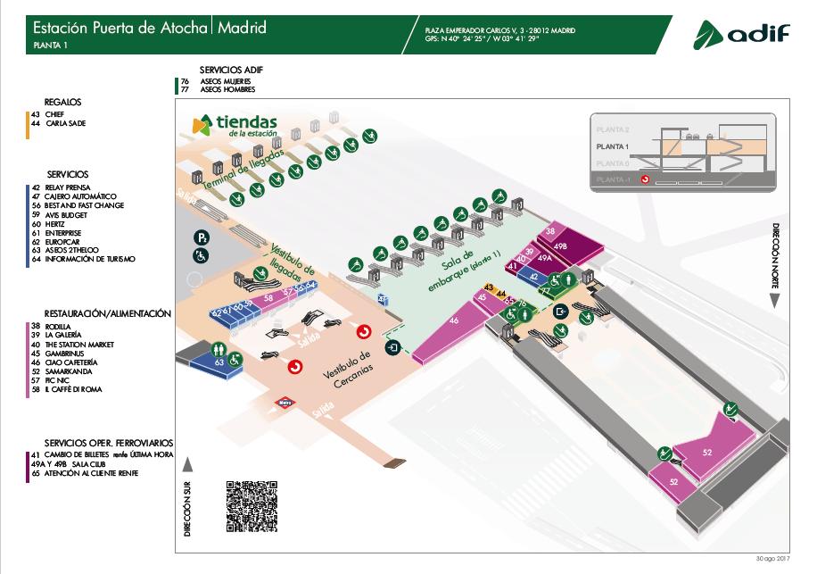 Plano Planta 1 de Atocha