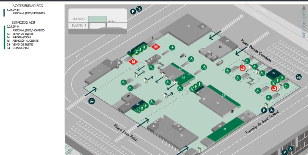 Mapa Estación Barcelona Sants
