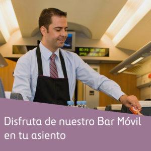 Servicio de cafetería a bordo de trenes AVE, tómate algo mientras viajas. 3