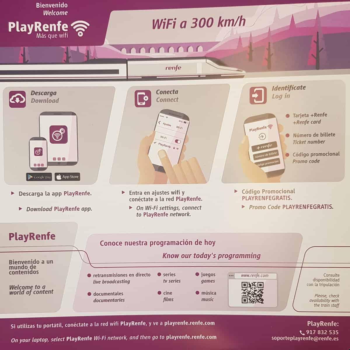 como conectar wifi en AVE Renfe