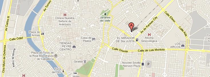 Localización Sevilla Santa Justa