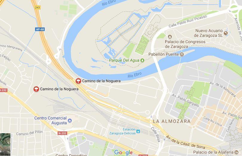 Mapa de situación de Zaragoza Delicias