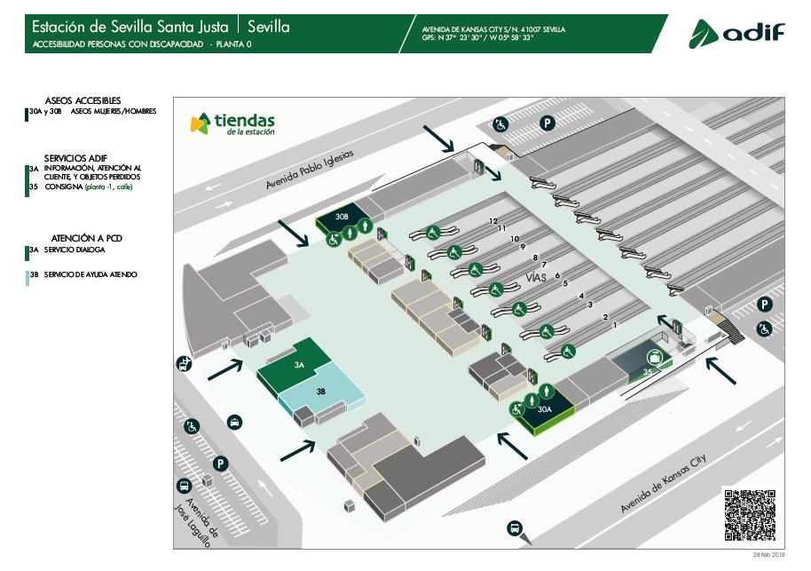plano de la estación Sevilla Santa Justa