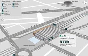 plano Estación AVE Córdoba