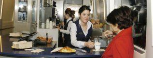 Servicio de cafetería a bordo de trenes AVE