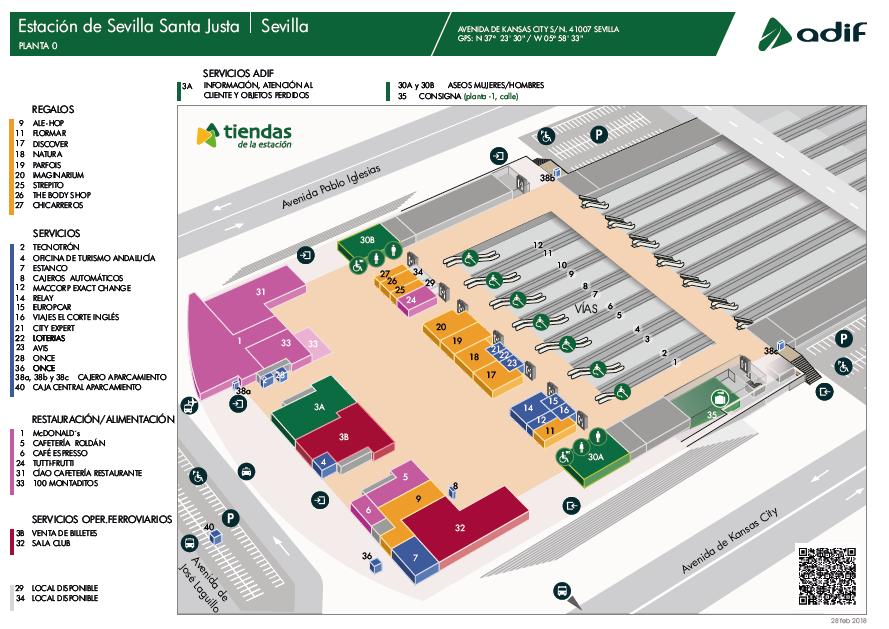 Servicios y tiendas de la estación Sevilla Santa Justa