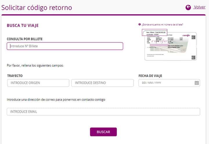 Código retorno Renfe 2